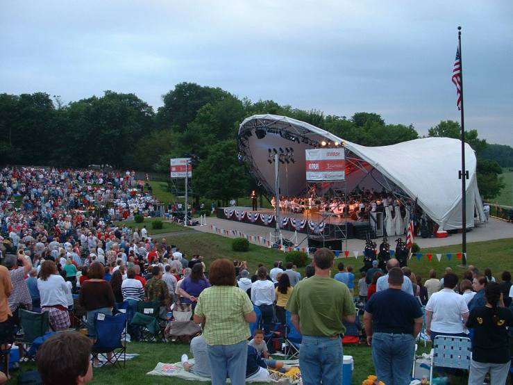 With the Indianapolis Symphony Orchestra at Conner Prairie