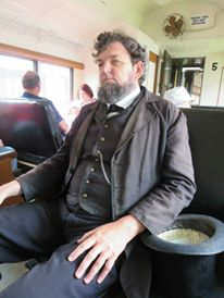 Lincoln on the train